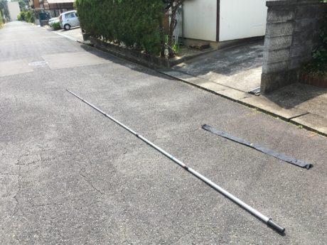 【カメ棒で空き家を高所撮影】