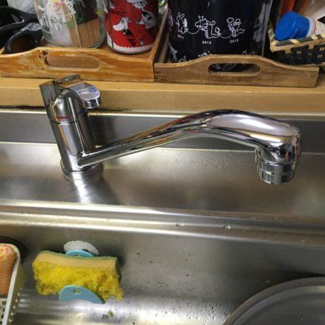 【キッチン水栓を交換】