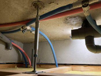 【排水逆勾配で配管を修理】