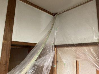 【空き家の天井DIY塗装】