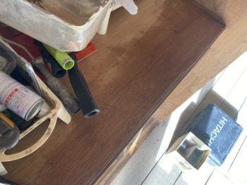 【押入れの床と中段の応急措置】