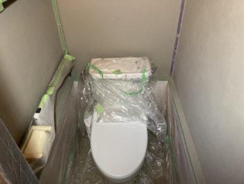 【トイレの漆喰壁をDIY塗装】