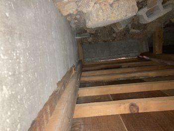 【床下点検口を設置し蟻害を確認】