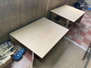 【合板で作った組立式作業台】