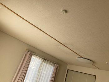 【天井の見切り材を再取り付け】